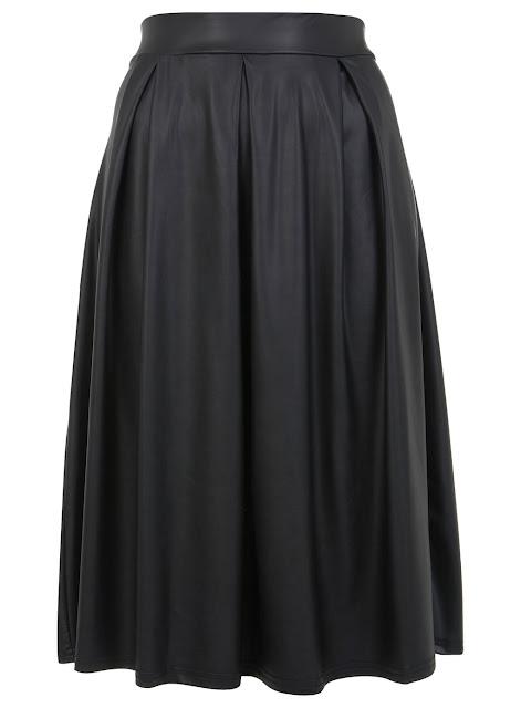 midi leather look skirt