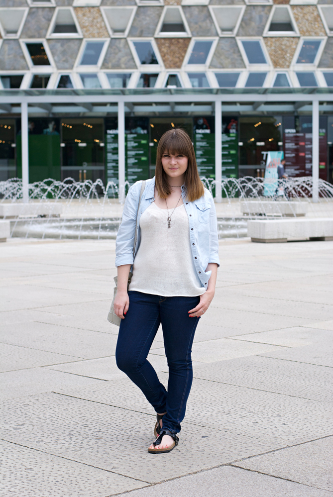 denim shirt outfit casual