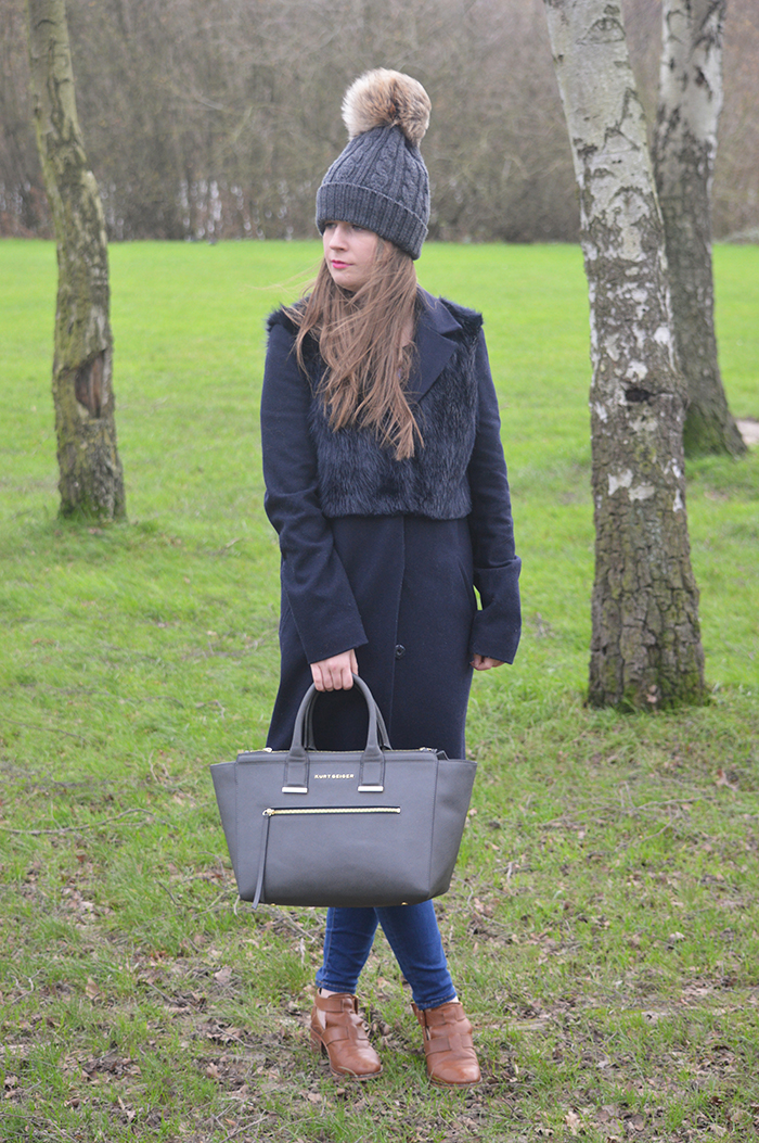 Topshop navy coat fashion bloggers