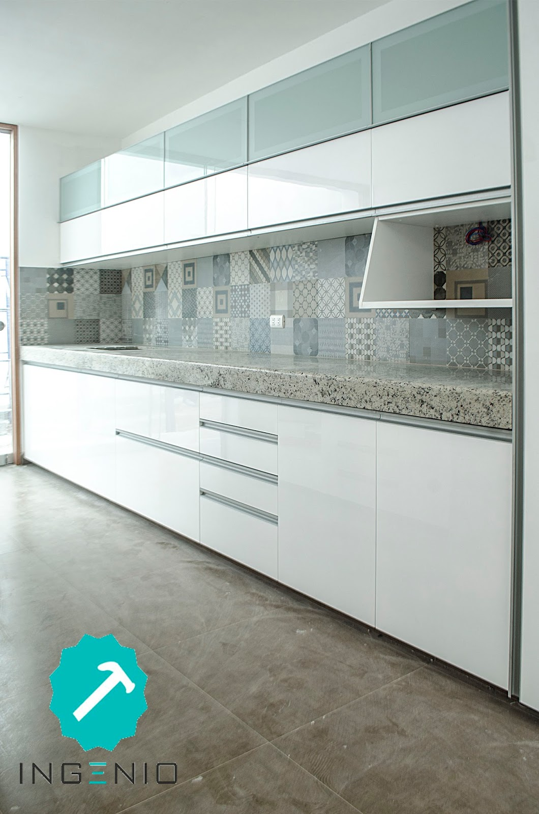 Ingenio Mueble Cocina En Poliuretano Blanco