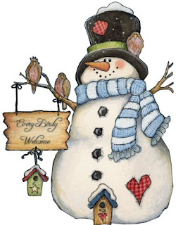 Imagens para decoupage de Bonecos de neve