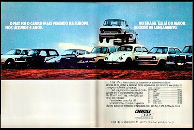 propaganda Fiat 147 - 1978.  brazilian advertising cars in the 70s; os anos 70; história da década de 70; Brazil in the 70s; propaganda carros anos 70; Oswaldo Hernandez;