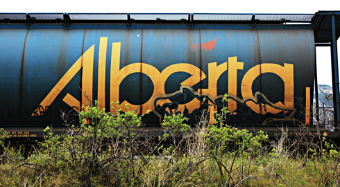 train car alberta travel photography series