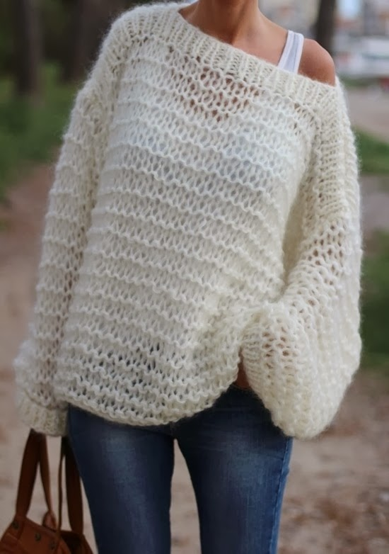 Free Slip Stitch Knitting Patterns : MES FAVORIS TRICOT-CROCHET: Modele tricot gratuit : Le pull oversize Didi&...
