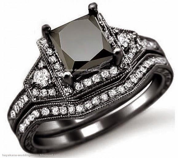 black diamond wedding ring sets