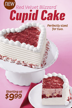 Valentine's Day cakes at Dairy Queen