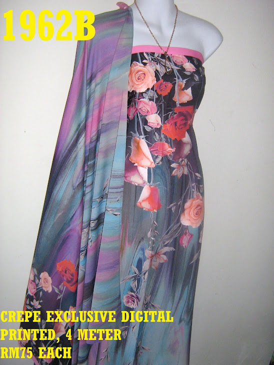 CDP 1962B: CREPE EXCLUSIVE DIGITAL PRINTED, 4 METER