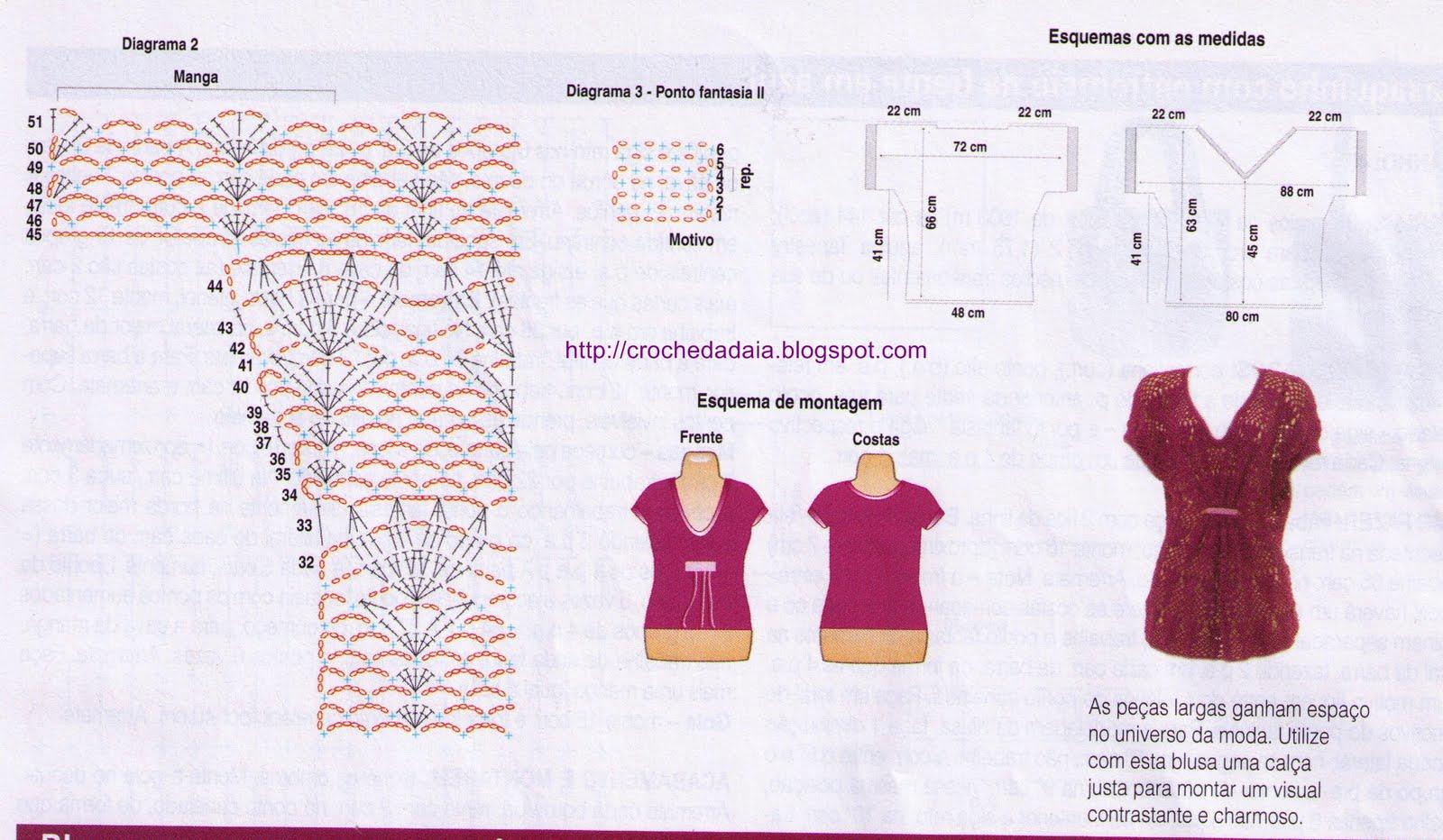 Moderno Patrones Camisa Ganchillo Elaboración - Manta de Tejer ...