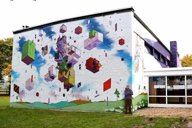 etnik new mural dusseldorf germany streetartnews streetartnews. Black Bedroom Furniture Sets. Home Design Ideas