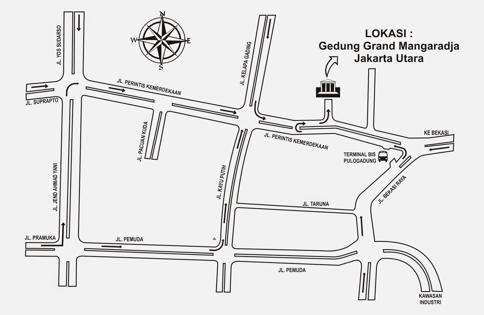 Denah Gedung Grand Mangaradja Jakarta Utara