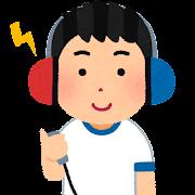 聴力検査のイラスト(学校の健康診断)