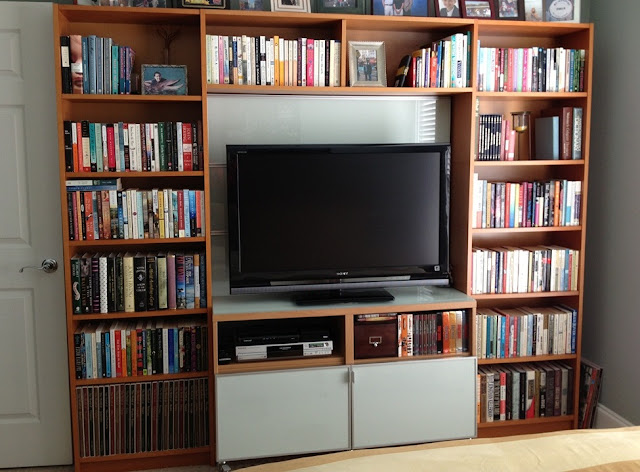 Beech Billy Bookcases With Glass Shelves And Doors