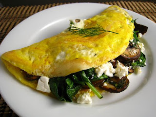 Mushroom and Spinach Omelet Recipe | Healthy Vegetable Recipe