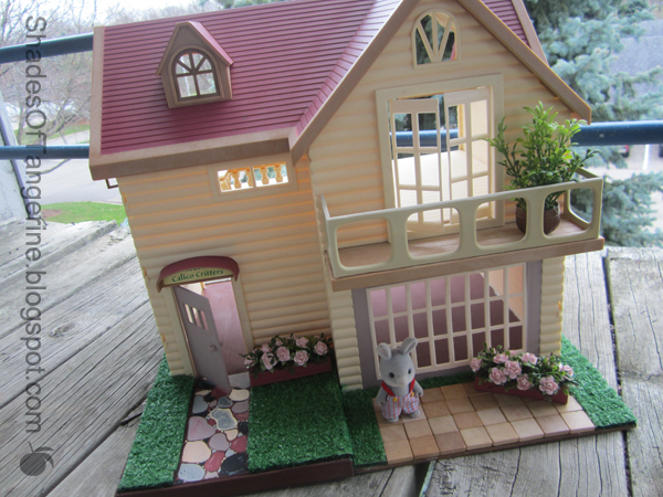 Shades of tangerine calico critter house flip for Is it easy to flip houses