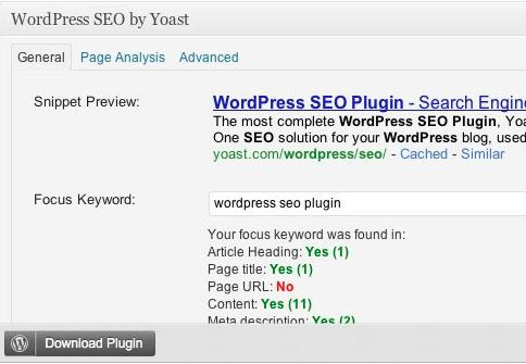 Yoast WordPress Plugin For SEO