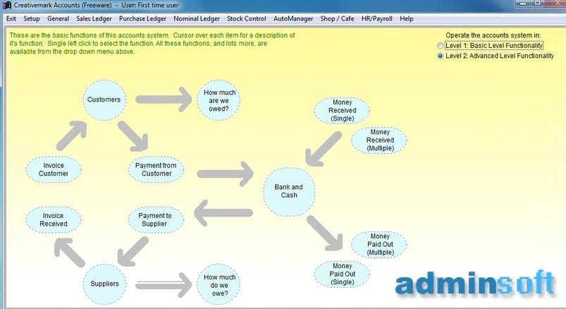 Adminsoft Free Accouting Software