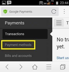 Cara Menghapus Payment Credit Card di Google Play Store