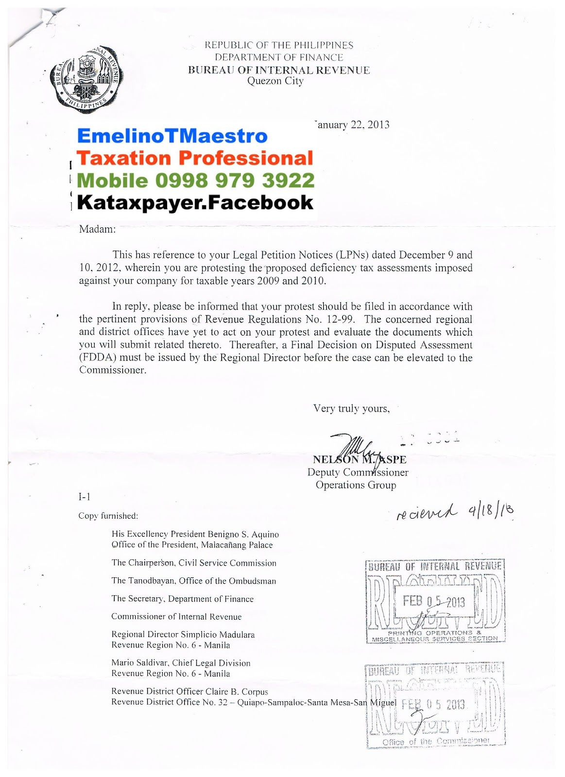 Emelinotmaestro Nelson Aspe S Letter That Explains Your Legal Rights