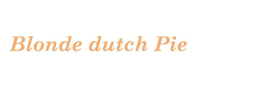 The Blonde Dutch Pie