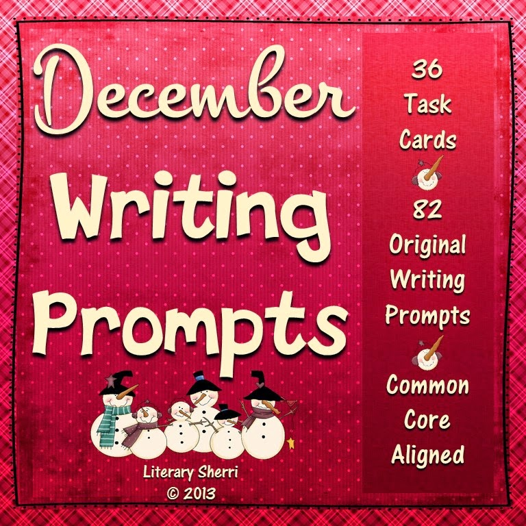 http://www.teacherspayteachers.com/Product/Writing-Task-Cards-December-Grades-7-10-958693