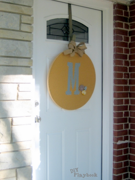 This was an easy way to add a pop of color to our front door