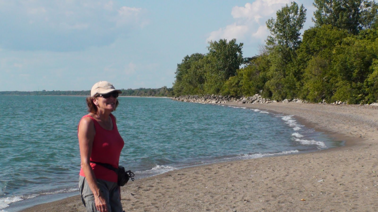 Liz close to the southern tip of Point Peele.