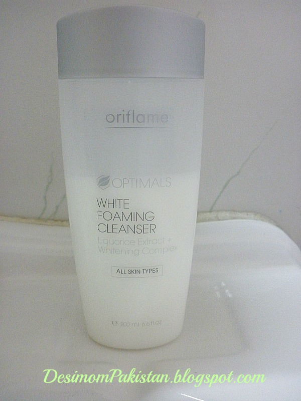 ORIFLAME OPTIMALS WHITENING FOAMING FACIAL CLEANSER