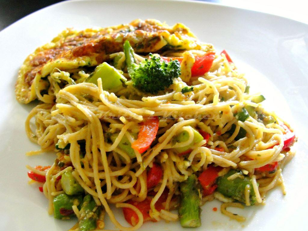 Krithi 39 S Kitchen Pesto Pasta Primavera One Bowl Eggs