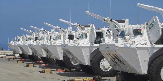 Panser Anoa Pindad dalam misi PBB di libanon