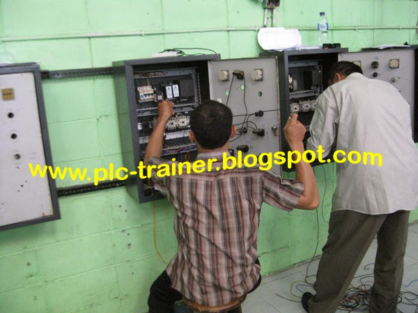 jual trainer plc panel star delta