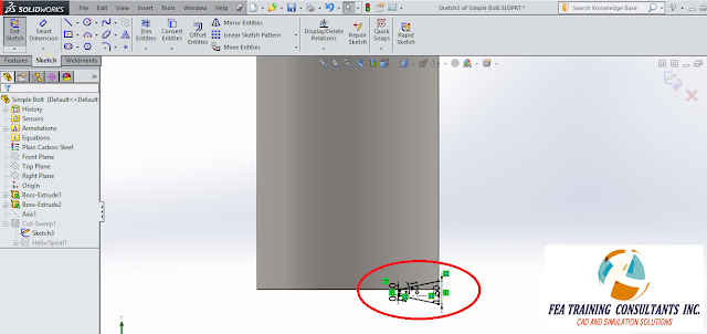 creating threads solidworks sweep method