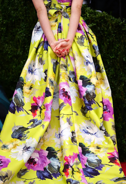 Emmy Rossum wore Carolina Herrera at the Met Gala 14.