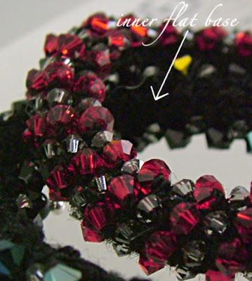 flat inner surface of bead crochet bangle