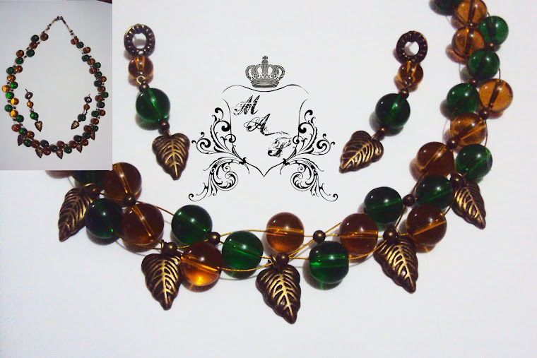 NEW!!! Autumn Necklace and earrings