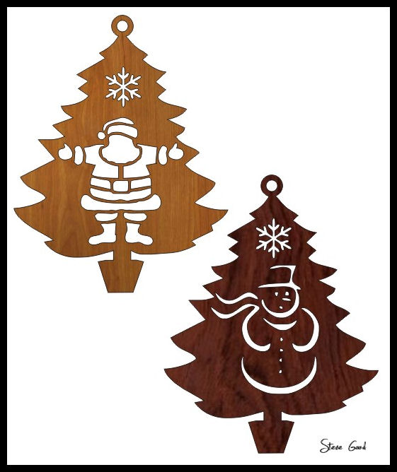 Scrollsaw Workshop Four Christmas Tree Ornaments Scroll Saw Patterns Adorable Christmas Scroll Saw Patterns