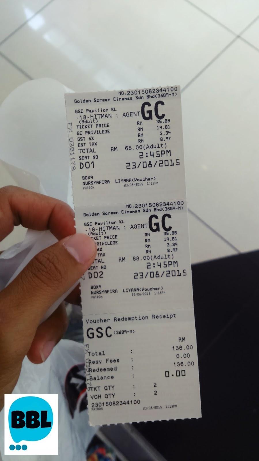 Pengalaman Tengok Wayang Di Gold Class Gsc Budak Bandung Laici