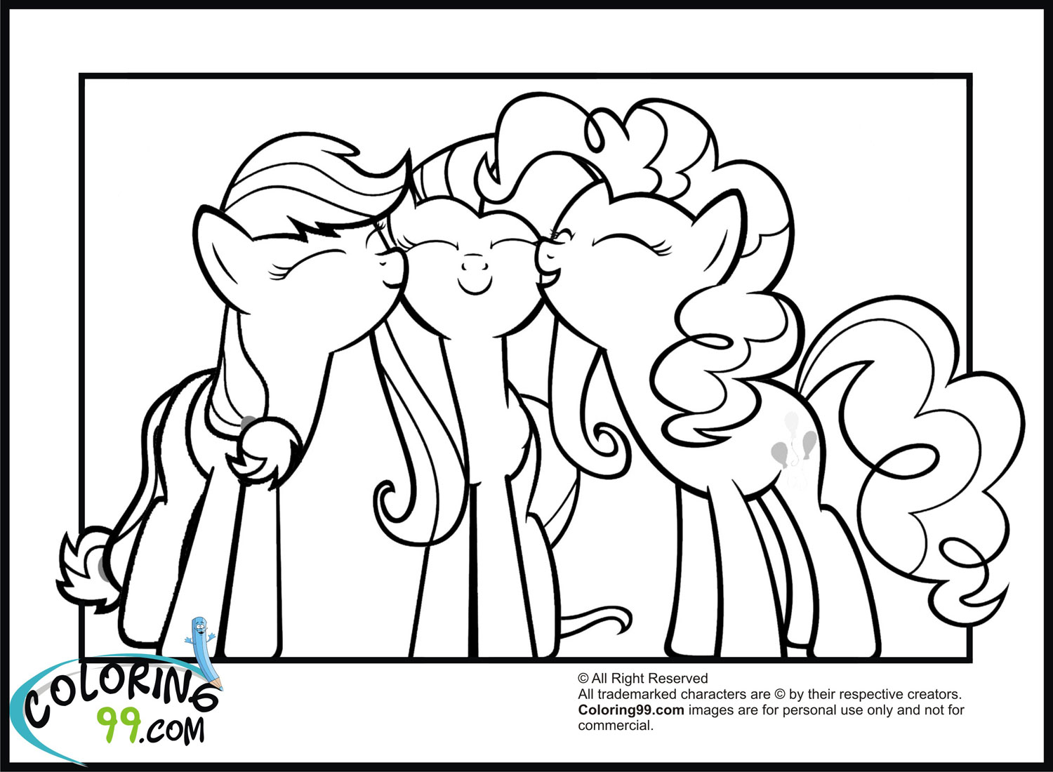 Hard My Little Pony Coloring Pages : My little pony coloring pages team colors