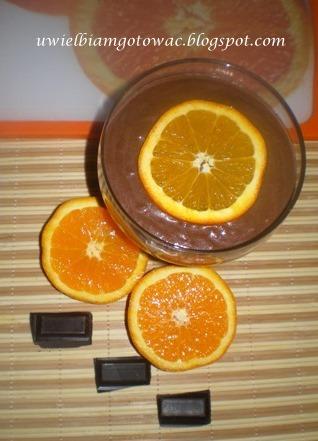 Budyń czekoladowo-pomarańczowy
