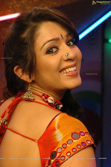 Charmi Kaur Hot In Red Saree | Beautiful Charmi Kaur