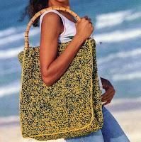 Faça uma bolsa de crochê em Juta