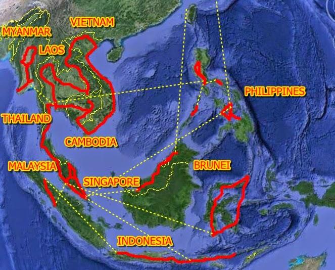 Sudeste Asiatico Mapa Sudeste Asiatico 2011 2014
