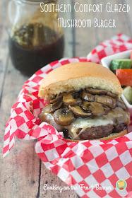Southern Comfort Glazed Mushroom Burger | Cooking on the Front Burner #recipes #burger