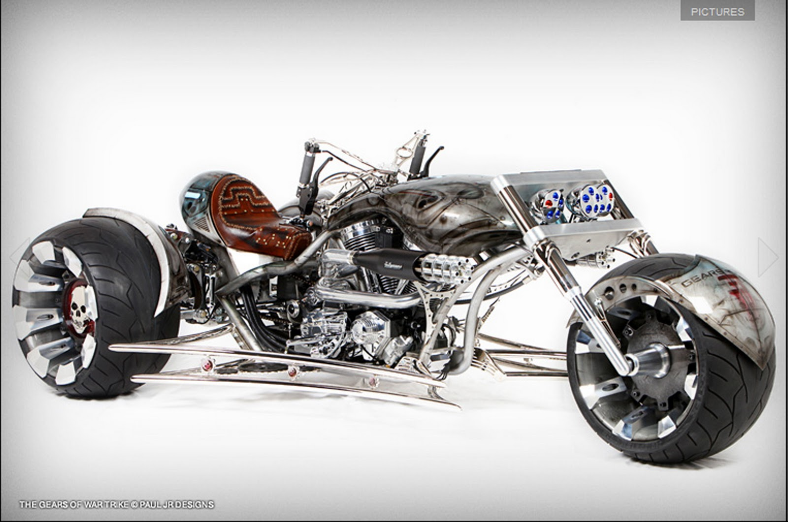 show the futuristic Gears Of War 3 Trike, contrived by Paul Jr Designs