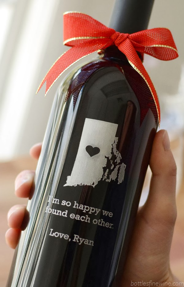 Custom Etched Wine Bottles
