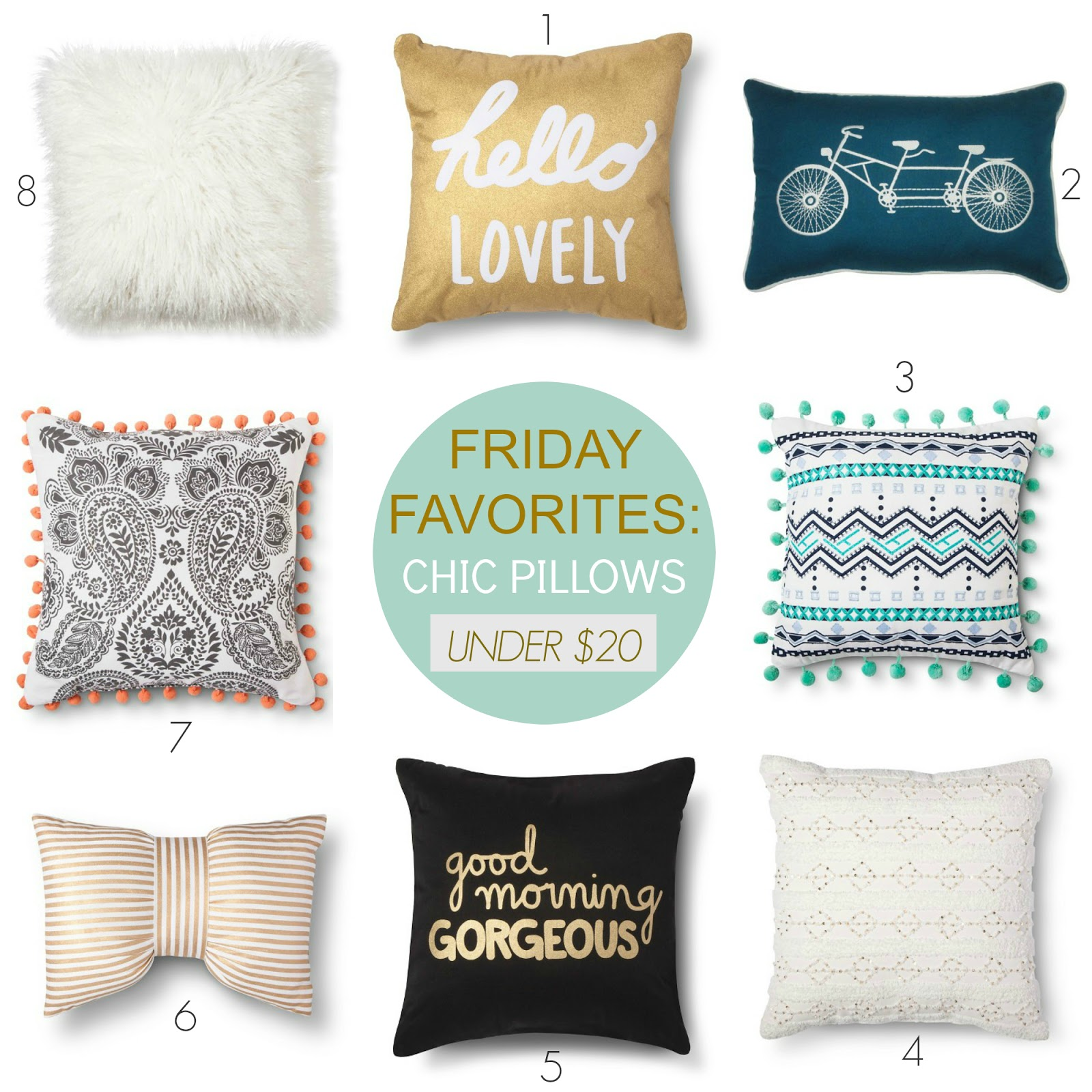 Tracy s Notebook of Style Friday Favorites Chic Pillows under