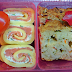 Bento: warzywny keks i roladki z łososiem