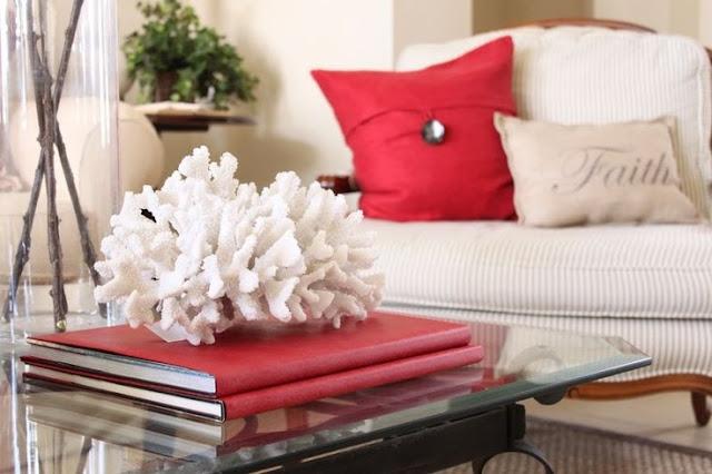 detalhe coral na decoracao