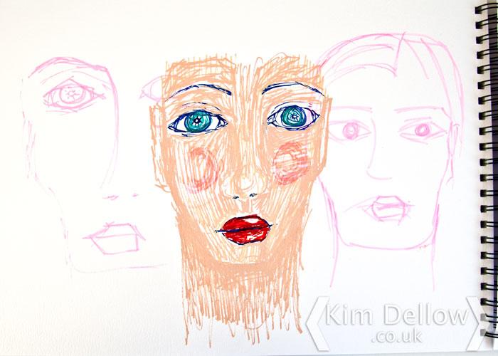 Paint marker sketch