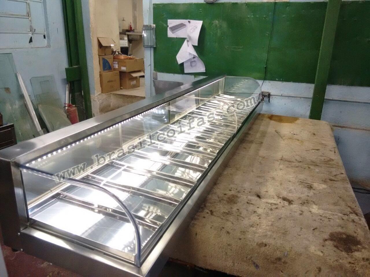 Estufa vidro curvo