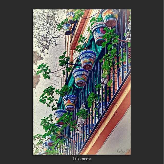 Balcón con macetas